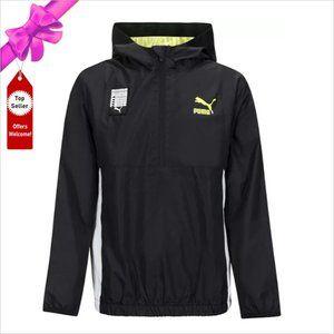 Puma Jackets & Coats - NWT PUMA Colorblocked 1/2 Zip Hoodie Windbreaker